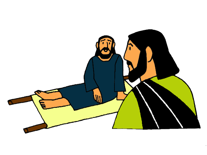 Man Lowered Through The Roof Through The Roof Jesus Stories Bible Lessons For Kids