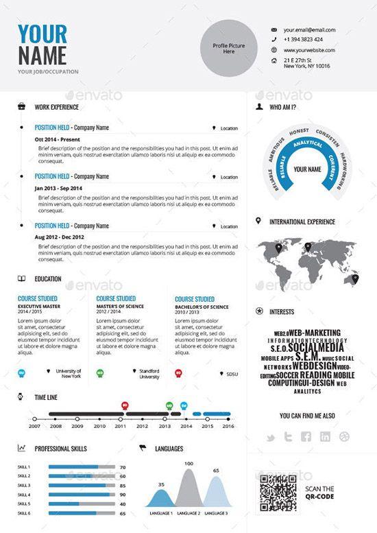 Infographic Resume Vol 1 Stuff To Buy Pinterest Infographic