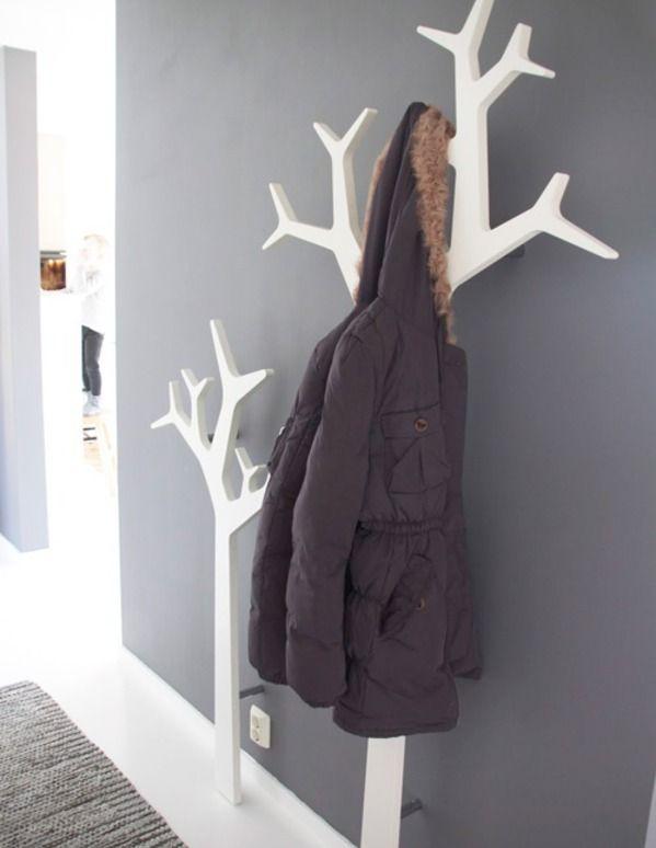 Fabriquer Un Portemanteau Original Idee Deco Maison Deco Maison Porte Manteau Arbre