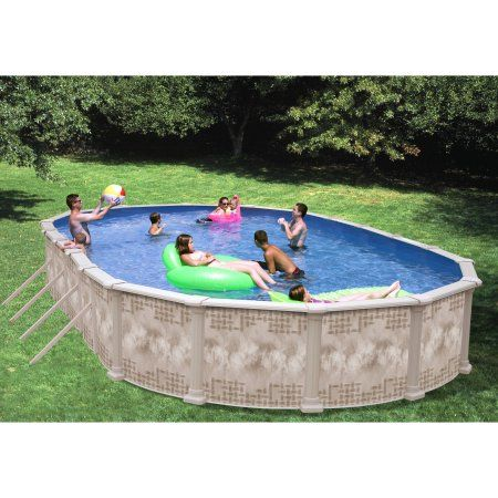 Heritage Oval 30\' x 15\' x 52\'\' Above Ground Swimming Pool ...