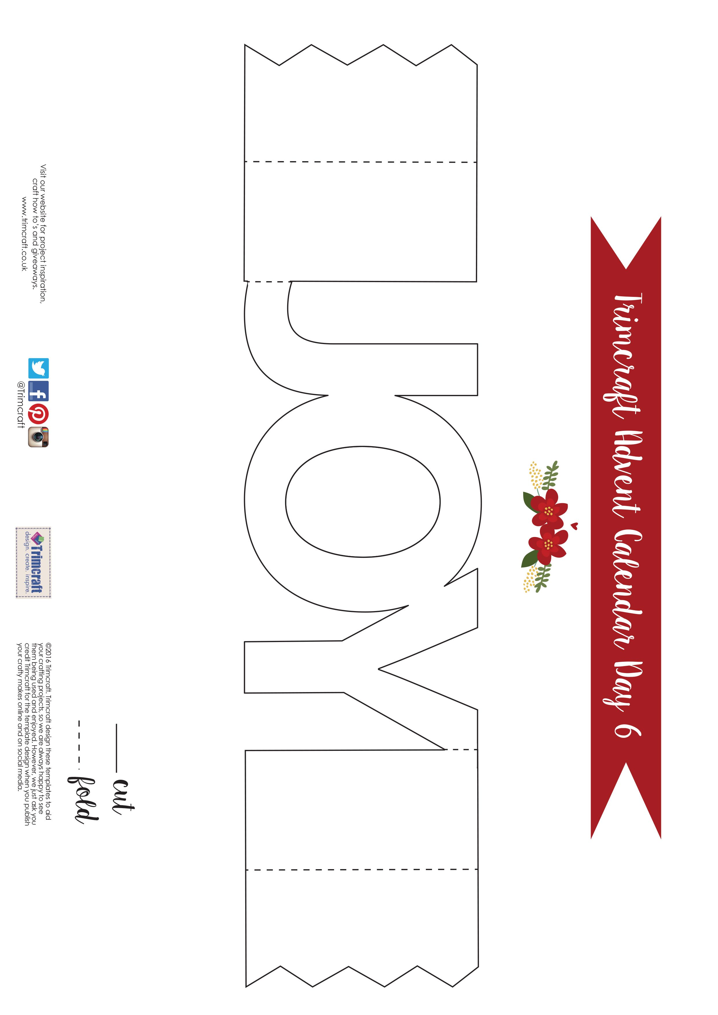 Trimcraft Advent Calendar Day 6 Free Printable Joy Cracker Card Template Joy Cards Advent Crafts Cards