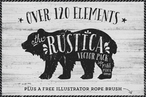 Check out The Rustica Vector Pack by MakeMediaCo. on Creative Market