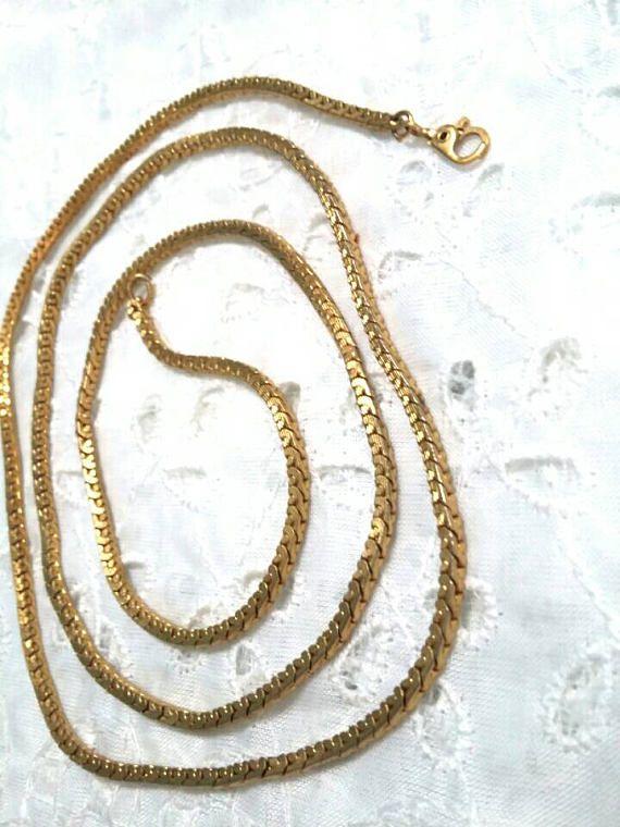 Monet long gold box chain Monet Chains and Box