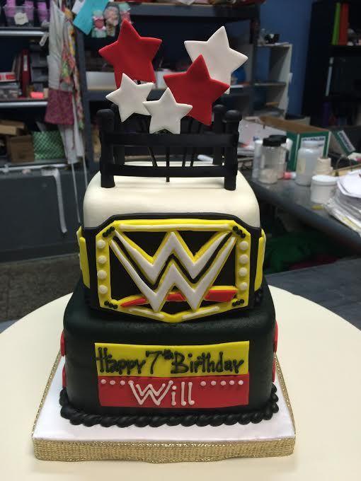 Wwe Wrestling Birthday Cake Adrienne Co Bakery Sports Cakes