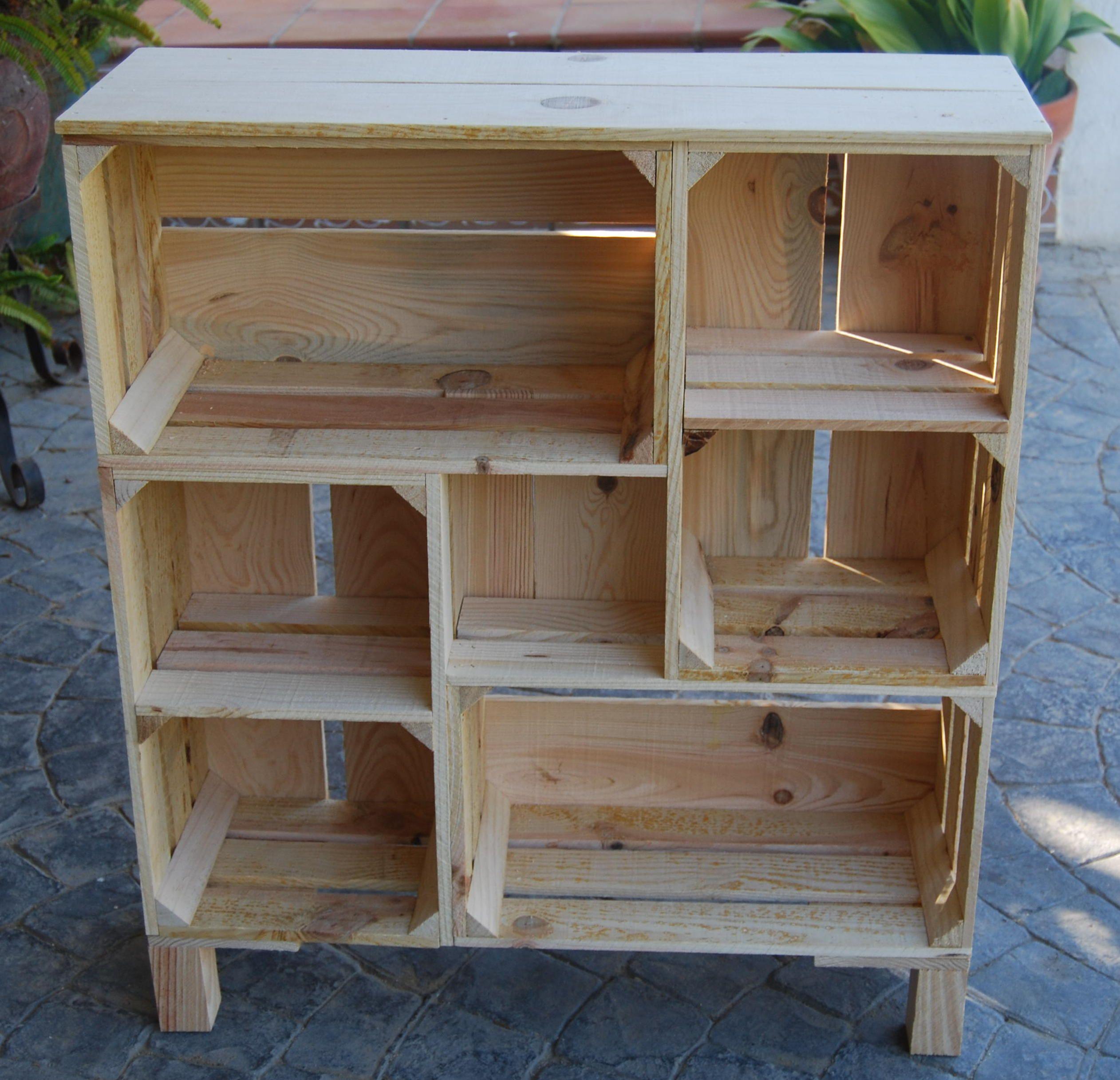 estanteria #madera #wood #mueble #rustico #cosas #cristal #artesanal ...