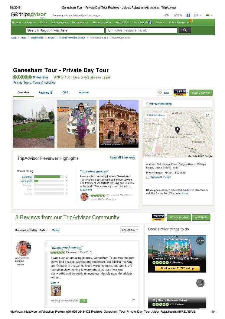 Review of Ganesham Tours & Travels India Pvt  Ltd  on