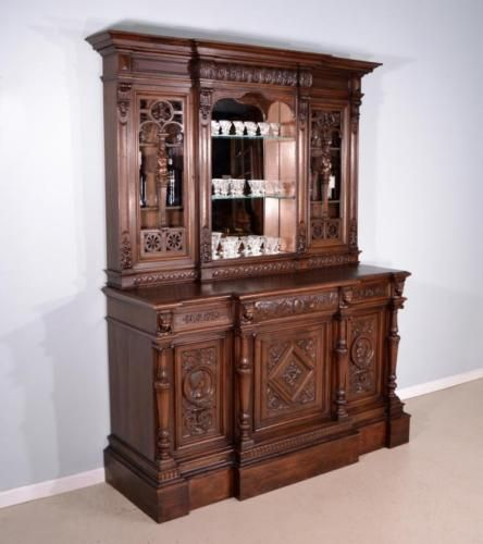 Antique French Bar And Back Bar With Renaissance Revival Theme In Antiques,  Furniture, Other Antique Furniture