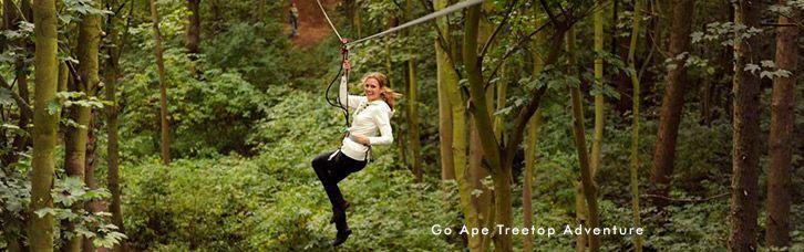 Ape Treetop Adventure zipline. Williamsburg, VA.