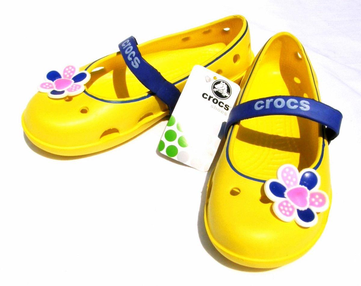 f47d6d54f Mercadolibre Zapatos Amarillo Niñas 100 Para Crocs Azul Original x0w7qf4FO0