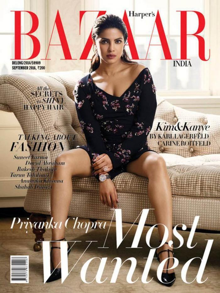Priyanka Chopra, la cover girl de septembre 2016 pour Harper's Bazaar India