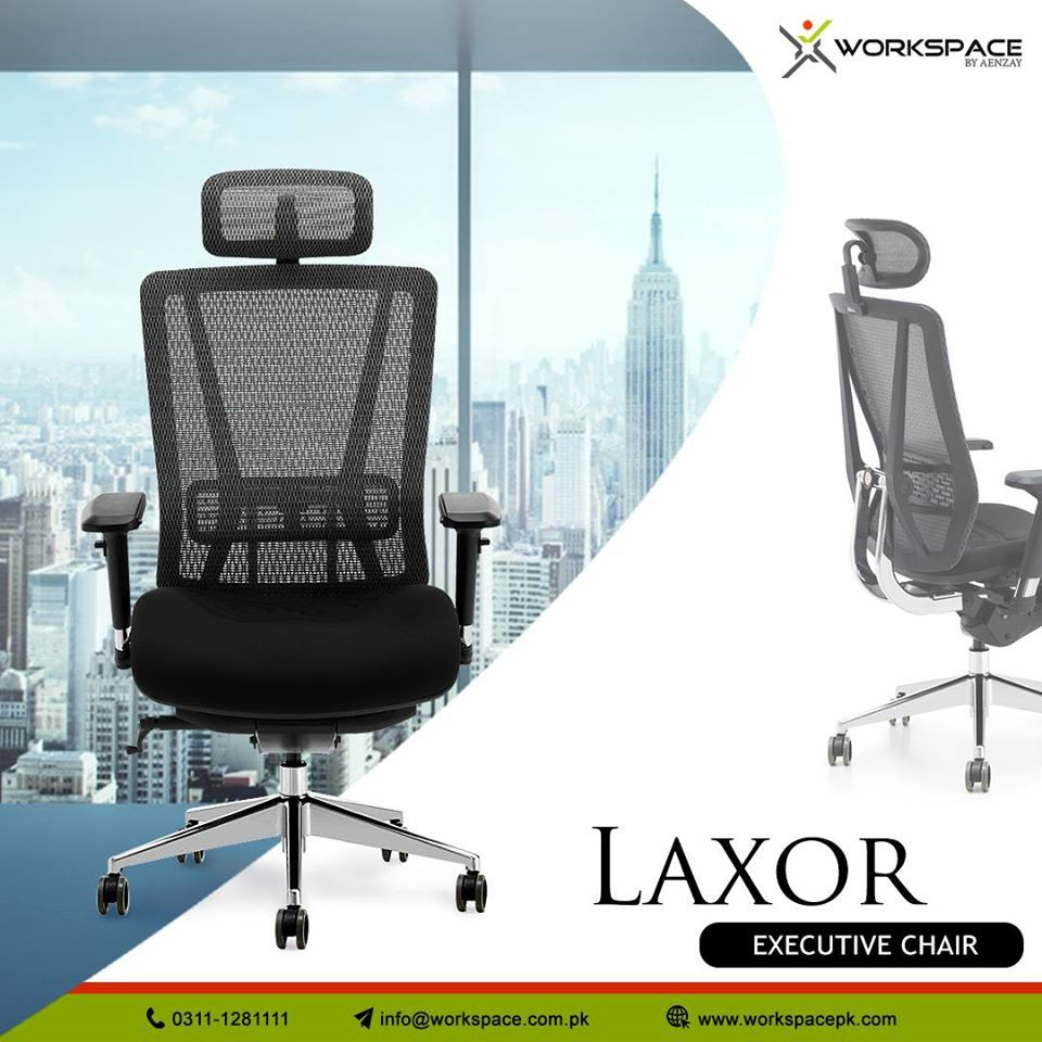 Laxor Executive Office Chair With Multiple Ergonomic Features By