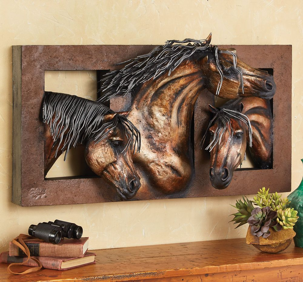 Sweet Freedom 10-D Horse Wall Sculpture  Horse wall art, Wall