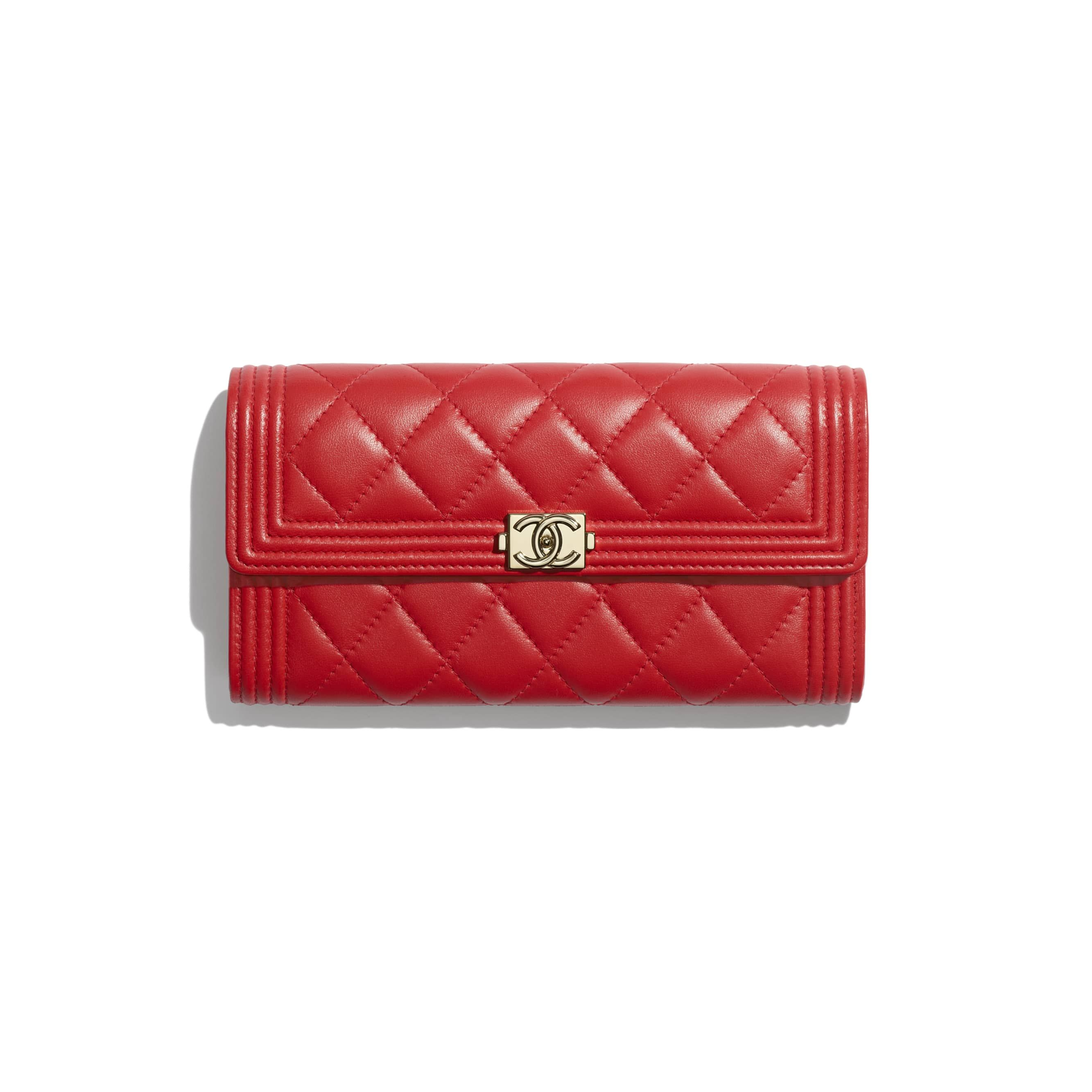 6cd16c540df161 BOY CHANEL Long Flap Wallet - Red - Lambskin & Gold-Tone Metal - Default  view - see standard sized version