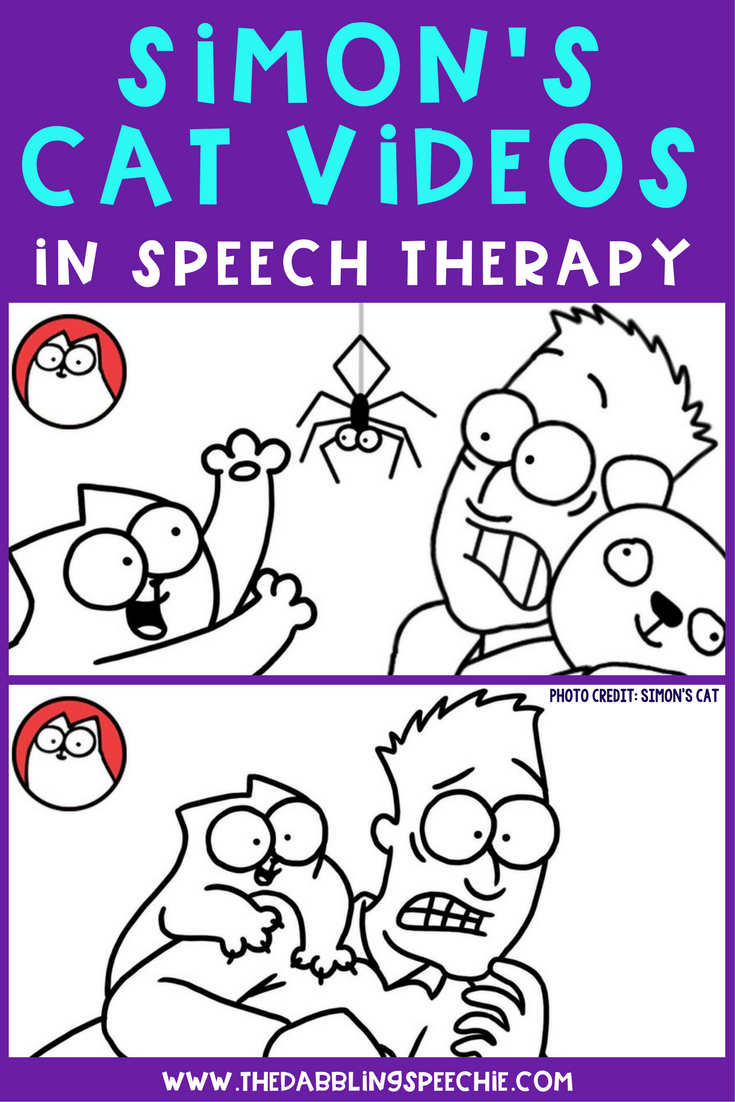Using Simon's Cat videos in speech therapy to target articulation, language, grammar and social skills