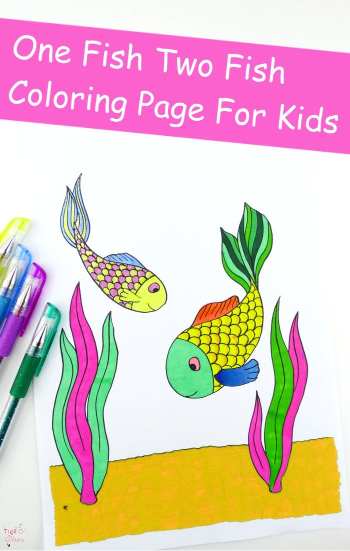 Fish Coloring Page For Kids Trail Of Colors Fish Coloring Page Coloring Pages For Kids Coloring Pages