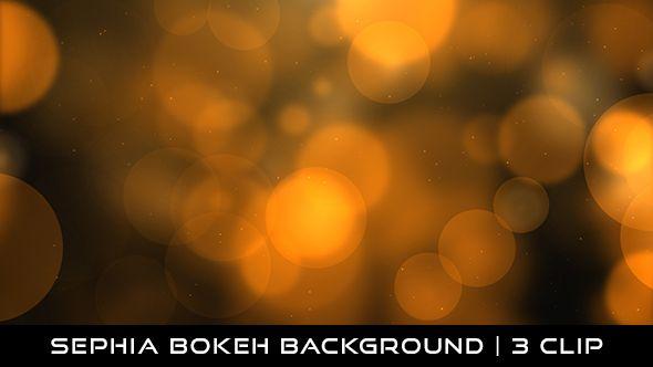 Sephia Bokeh Background Full HD 1920×1080 | Seamless Looped Video