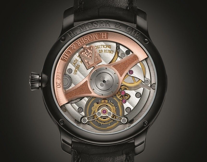"""H. Moser & Cie. Endeavour Tourbillon Watch - by Rob Nudds - """"The new H. Moser & Cie Endeavour Tourbillon didn't grab me at first. I thought it was fine – a solid design with some admirably artisanal features (check out that delicious fumé dial) – but it did not blow my socks off...the thing that got me excited was a hidden hand..."""""""
