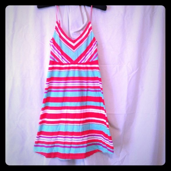 Hurley Bright Colored Dress Coral and teal sundress. Perfect for the beach! Worn once. Hurley Dresses