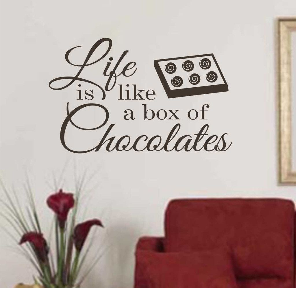 Vinyl Wall Lettering Life is like a box of Chocolates
