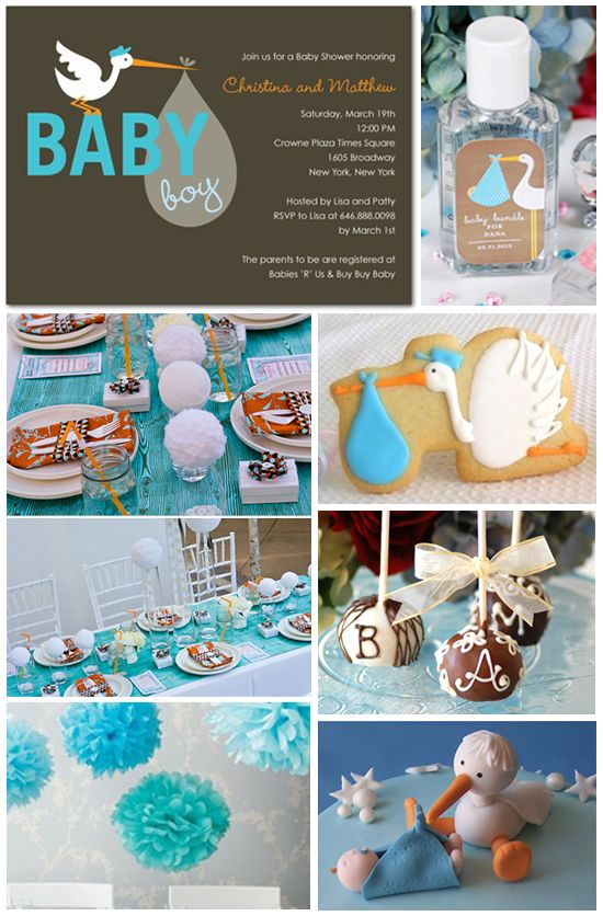 Stork Themed Baby Shower Decorations