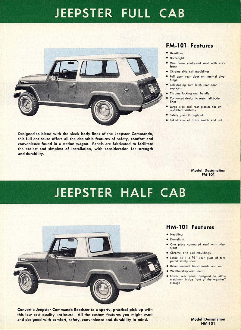 1970 Kelly Mfg Hardtop Brochure5 Jeepster Jeepster Commando Cool Jeeps