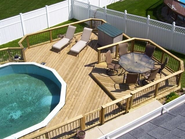 Above Ground Pool Deck Backyard Pool Pool Above Ground Pool Landscaping