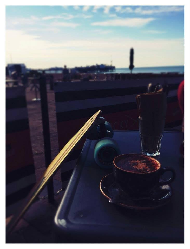 The G&S pintail longboard, Lucky Beach cafe, Brighton, Summer 2014