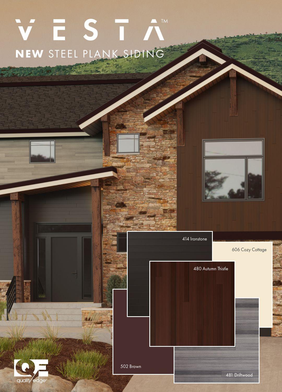 Vesta Steel Plank Siding In 2020 Home Exterior Makeover Exterior House Siding House Siding Options