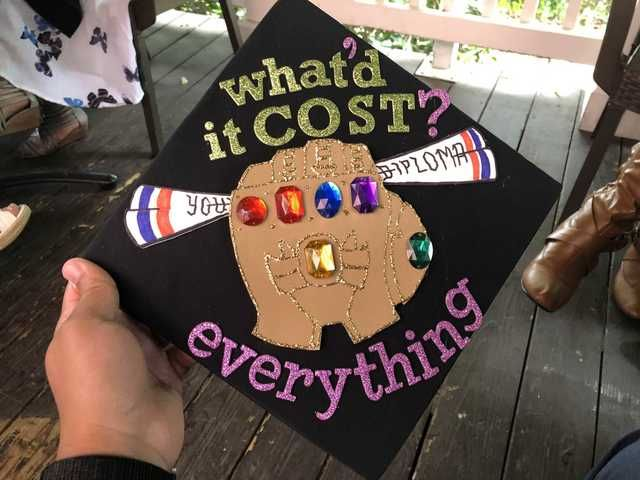 My Thanos-inspired graduation cap