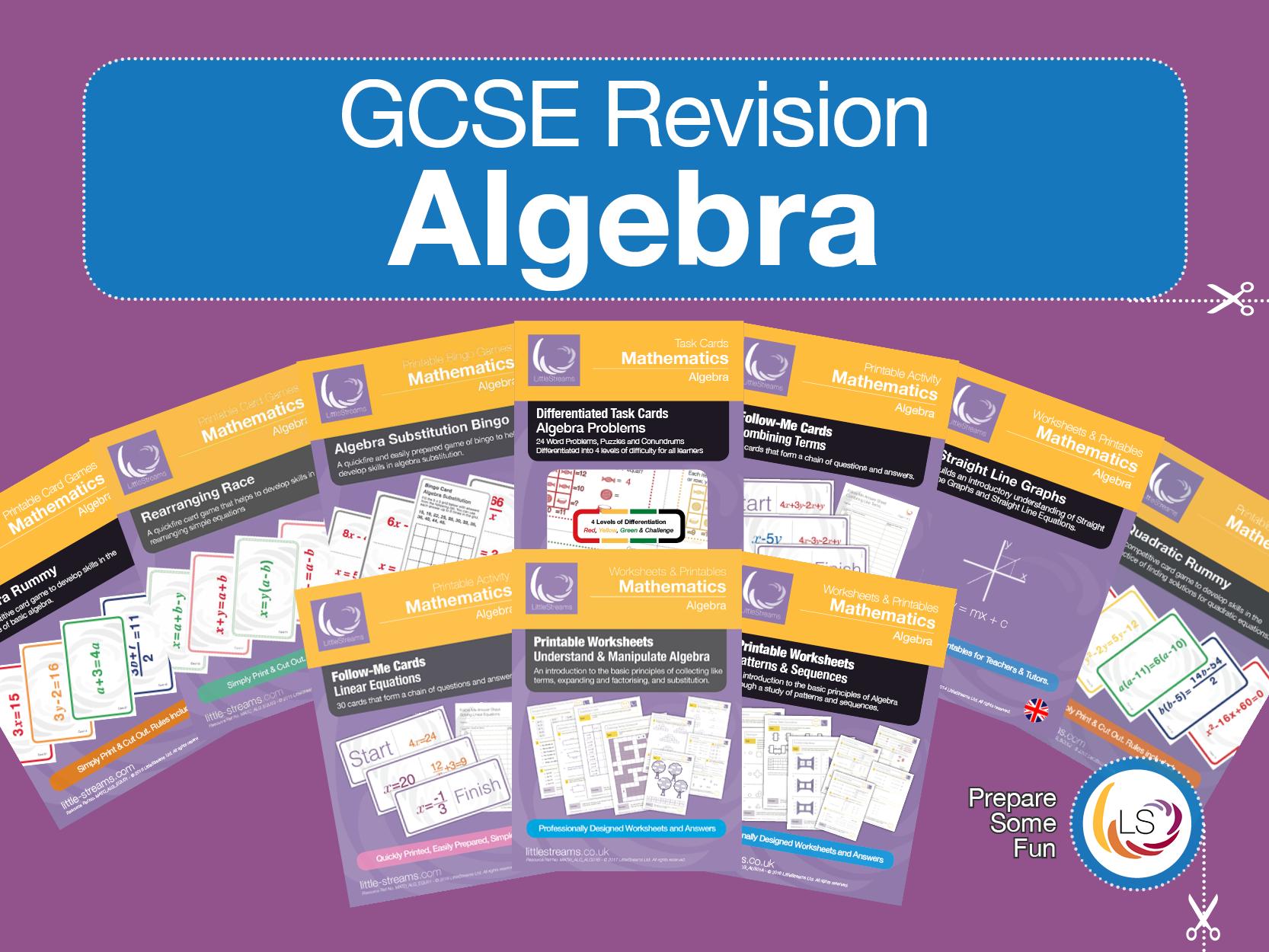 Algebra Gcse Revision Resources