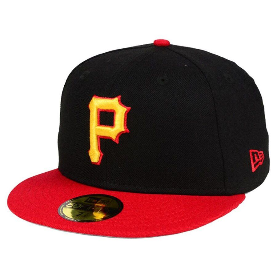 low priced 98351 d5aa8 Pittsburgh Pirates New Era MLB Cooperstown 59FIFTY Cap - Black Red, Your  Price