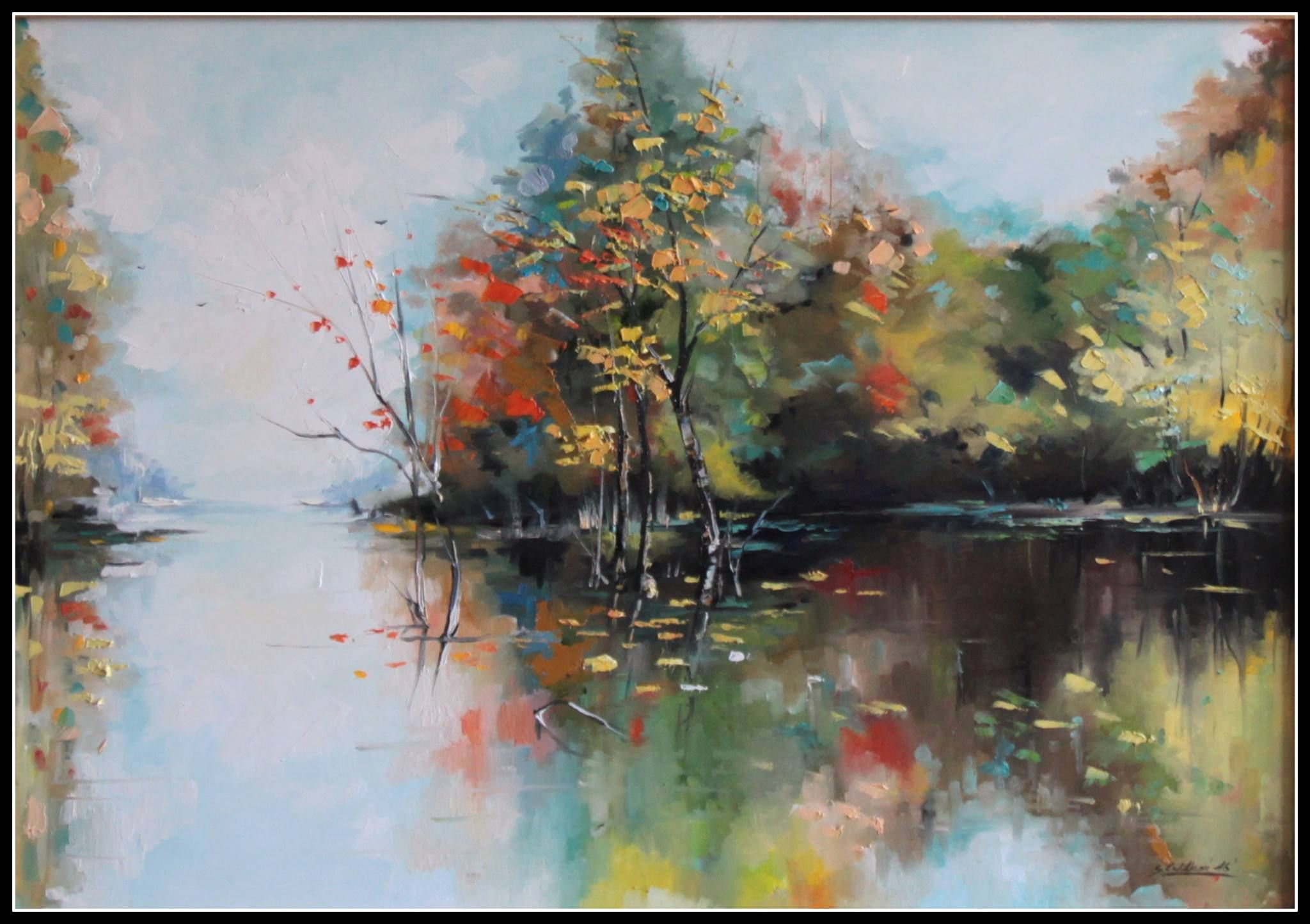 Obrazy Malarstwo Obrazy Olejne I Nowoczesne Cybulska Wilkon Obraz Jesien 03 Pejzaz Painting Landscape Paintings Art