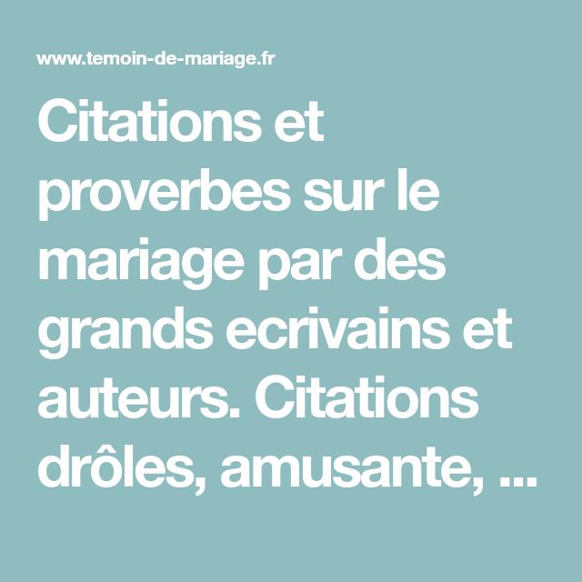 Citations Et Proverbes Sur Le Mariage Par Des Grands