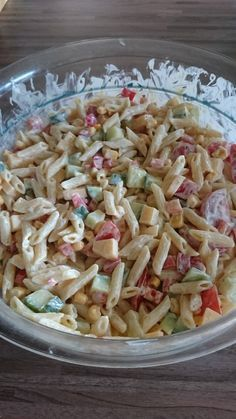 Photo of Colorful pasta salad with crème fraiche by Missysi | chef