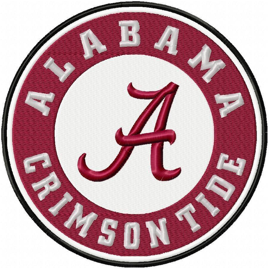 Alabama Crimson Tide, Machine Embroidery Design