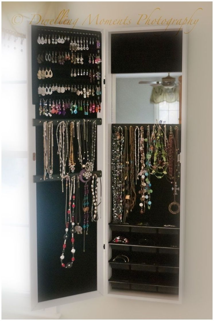 Jewelry Armoire Over The Door Mirror Cabinet Hsn Http