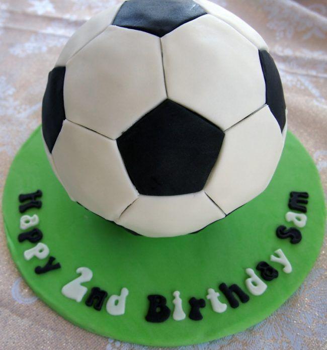 Kuchen Kindergeburtstag Fondant Torte Fussball Motto