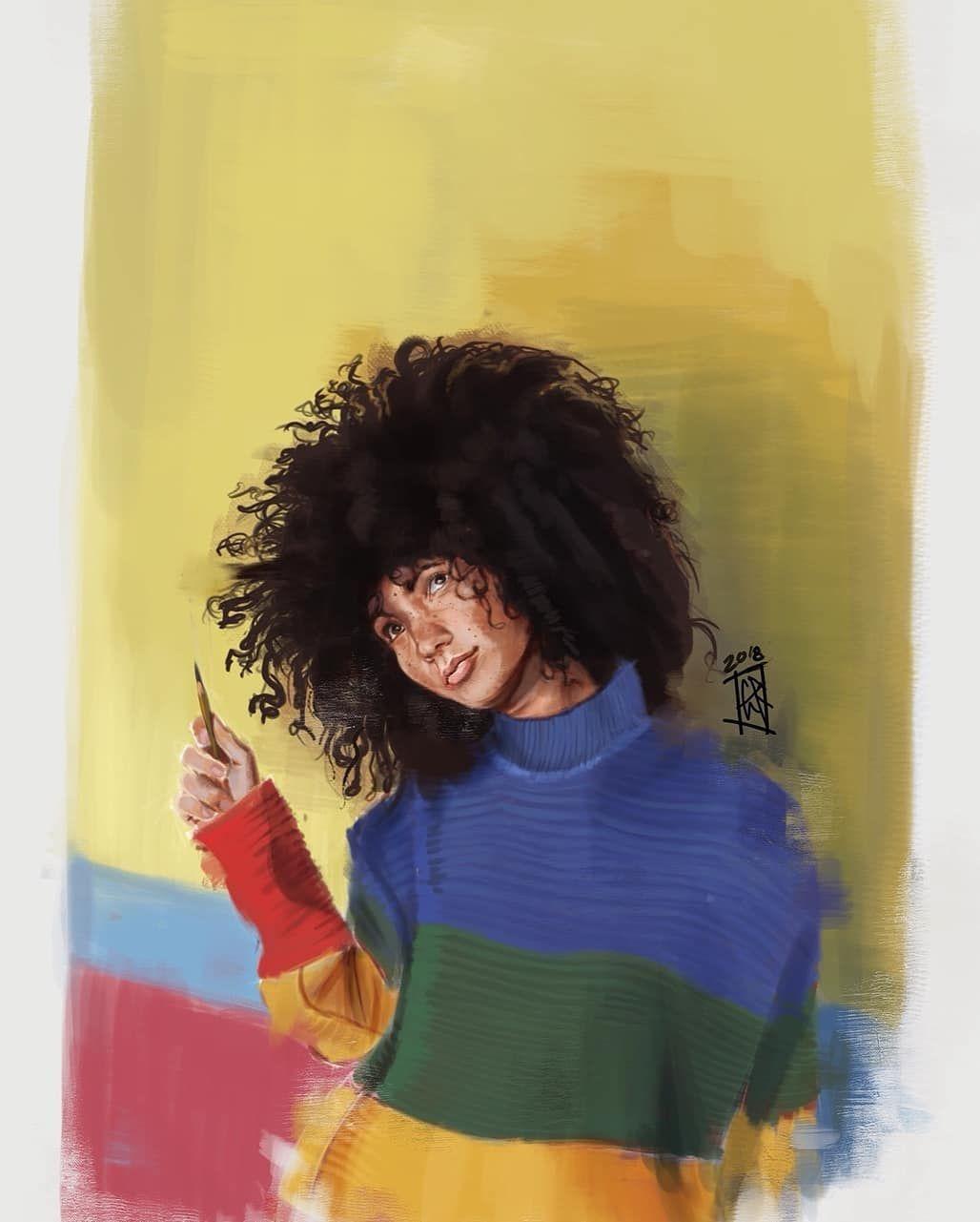 #DopeBlackArt by @roweart . . #dopeblackartist #dopeblackartists #dopeblackartart #blackgirlmagic #blackgirls #dopeblackartwork #melaninqueen #blackartsupport #dopeblackart #blackgirlsrock #melaninpoppin #artist #nailart #blackart #blackgirlswhoblog #blackartist #prilaga #dopeblackartgottaluvit👑 #instaart #melanin #art #blackartmatters #melaninmagic #artwork #blackartists #blackgirl #melaninonfleek