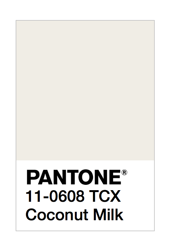 Pantone Coconut Milk Cream Paint
