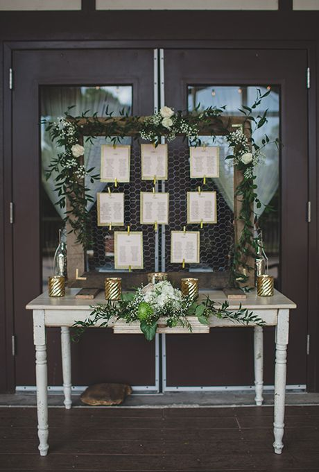 Wire Frame Wedding Seating Chart And Card Display Brides