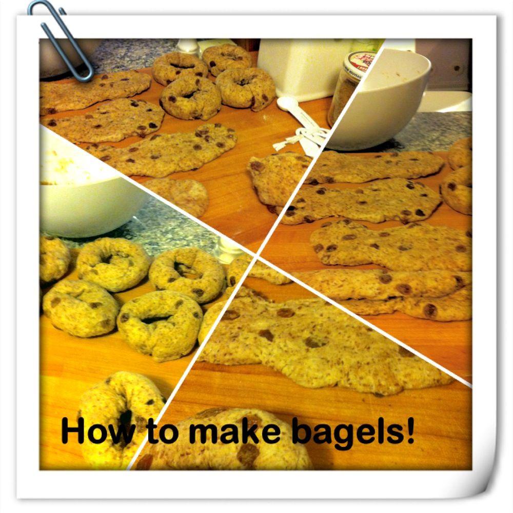 Cinnamon Raisin Bagels Yeild: 10-12 Bagels Sponge: 1