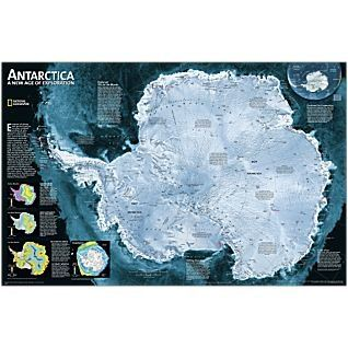 Antarctica wall map national geographic httpamazondp antarctica wall map national geographic httpamazondp gumiabroncs Image collections