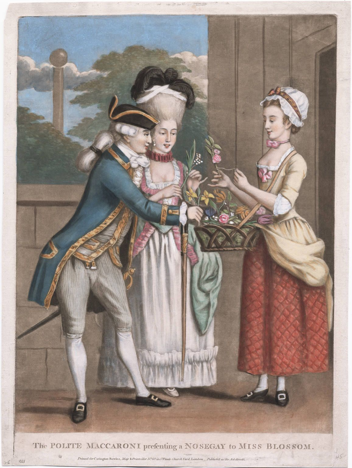 I noticed in looking for period images that there seemed to be a running theme after 1771 of macaronis and love (be it courtesans or an old ...
