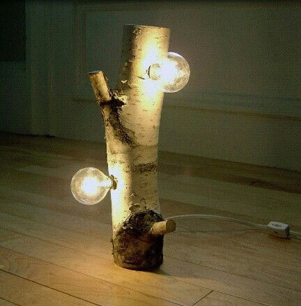 Lamp idea   http://www.bassineco.com/wp-content/uploads/diy-table-lamp-of-birch-anch-with-stylish-design.jpg