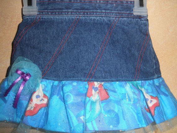 Mermaid Denim Skirt by HannaStCreations on Etsy, $16.00