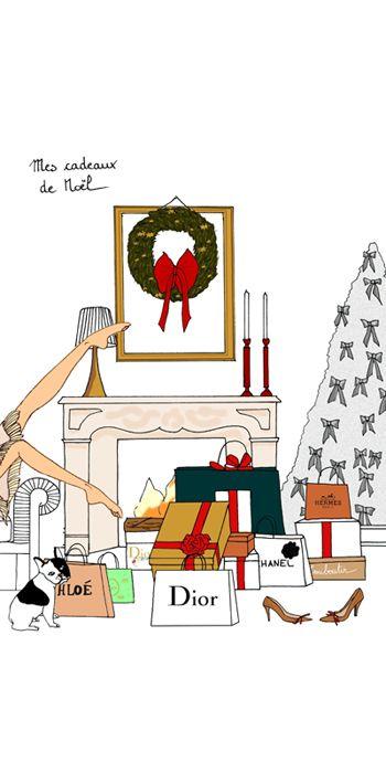 Mes cadeaux de Noël | Christmas | Pinterest | Illustrations, Fashion ...