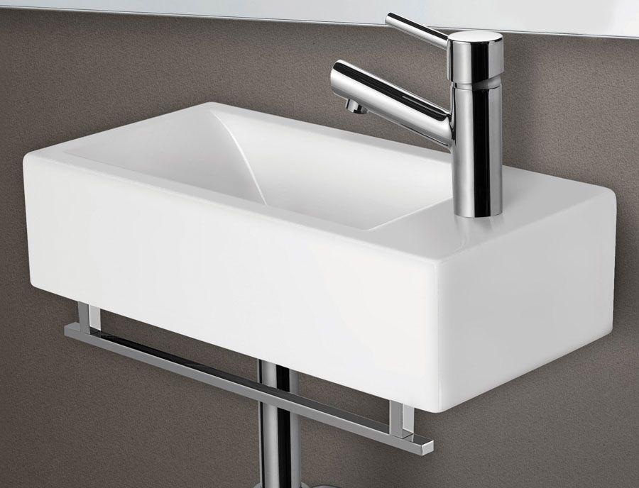 Small Wall Mount Bathroom Sinks Modern Rectangular Mounted Ceramic