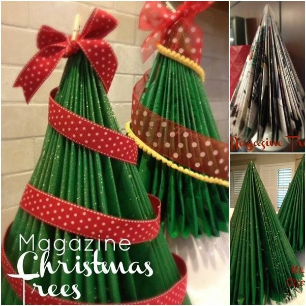 here is a superb chance of recycling old magazines make this beautiful diy magazine christmas tree and have a merry christmas