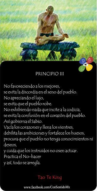 Consentido Tao Te King Principio 3 Tao Reflexion De