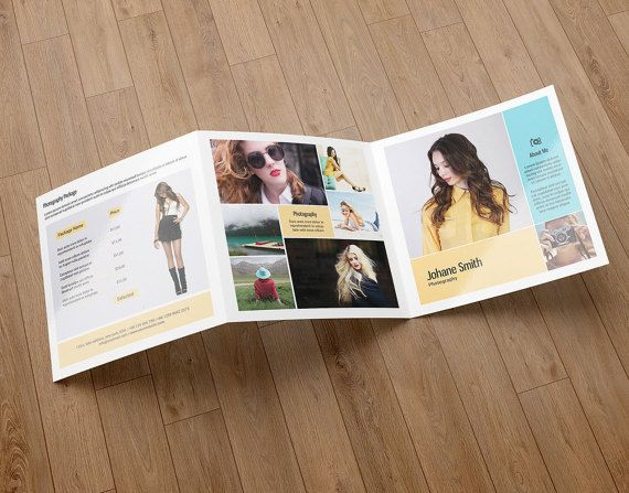 Square Trifold Photography Brochure Template By TemplateStock - Photography brochure templates